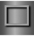 frame on metal vector image
