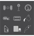 Car Parts icon set 2 vector image
