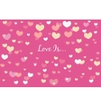 Love card for Valentines Day vector image