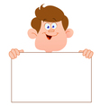 smiling teenager with sign vector image