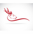 a deer head on white background wild animals vector image vector image