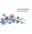 abstract autumn background with blue and purple vector image vector image