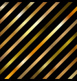 abstract golden gradient color diagonal striped vector image vector image