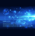 abstract hi-tech background in blue color vector image vector image