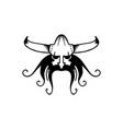 ancient viking head logo man head logotype vector image