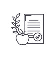balanced diet line icon concept balanced diet vector image