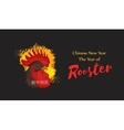 Beautiful banner with a rooster in the style of vector image vector image
