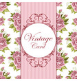 beautiful vintage card vector image vector image