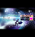 black friday girl background sale for banner vector image