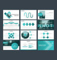blue square presentation templates infographic vector image vector image