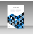 brochure design with abstract triangles vector image vector image