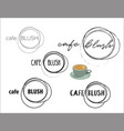 cafe coffee shop round logo collection vector image vector image