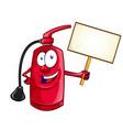 cartoon character fire extinguisher vector image vector image