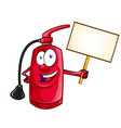 cartoon character fire extinguisher with vector image