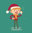 Cartoon Elf Talking on the Phone vector image