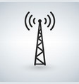 cell phone tower wifi antena black icon vector image