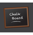 chalk board class rules vector image