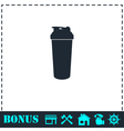 Cocktail shaker icon flat vector image vector image