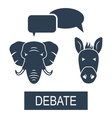 Concept of Debate Republicans and Democrats vector image vector image