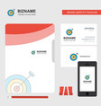dart business logo file cover visiting card and vector image vector image