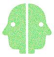 dual face mosaic of dots vector image vector image