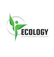 ecology - green leaves - logo concept vector image