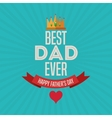 Fathers day concept celebration design Greeting vector image vector image