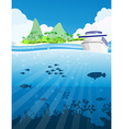 Fishes under the sea vector image vector image