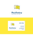 flat chat bubble logo and visiting card template vector image vector image