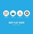 flat icon auto set of carrying warning vector image vector image