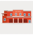 flat of fire station vector image vector image
