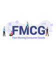 fmcg fast moving consumer goods concept with big vector image vector image