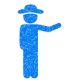 Gentleman Show Grainy Texture Icon vector image vector image