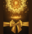glitter card design for greeting or invitation vector image