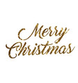 glitter gold isolated hand writing word merry vector image vector image
