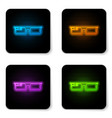 glowing neon smart glasses mounted on spectacles vector image