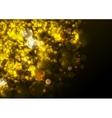 Golden festive abstract luminous Christmas vector image