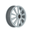 gray car disk flat icon of alloy wheel vector image vector image