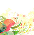 greeting background with pictorial freesia flowers vector image vector image