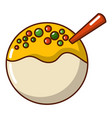 hanami dango icon cartoon style vector image