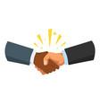 handshake gesture vector image vector image