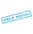 Help Nepal Rubber Stamp vector image vector image