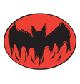 icon happy halloween bat devil ghost line art vector image