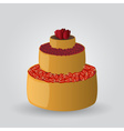 layer cake with strawberries and cherries eps10 vector image vector image