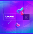 liquid color background design with square cells vector image vector image