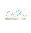 lots colorful tiny confetti and ribbons on vector image vector image