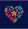 love floral vector image vector image