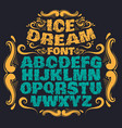 melting type trendy font made in hand drawn line vector image vector image