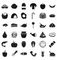 milling icons set simple style vector image vector image