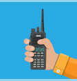modern portable handheld radio device vector image